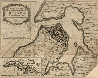Poster, Many Sizes Available; Map Of Havana, Cuba 1762