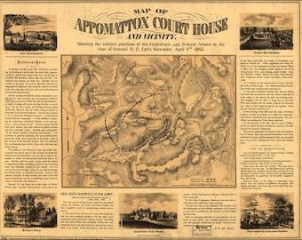 Appomattox Etsy - Appomattox us map