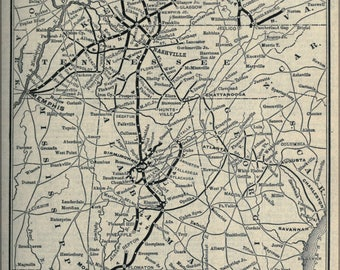Poster, Many Sizes Available; 1897 Poor'S Louisville And Nashville Railroad