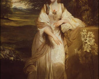 Poster, Many Sizes Available; Lady Bampfylde By Sir Joshua Reynolds