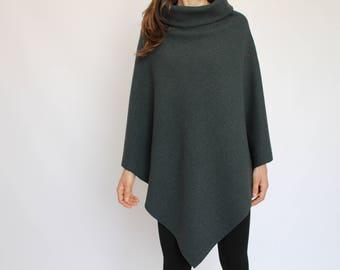 High Quality Italian Wool Poncho / WINTER WOMENS CLOTHING / Pure Wool Cape Coat / Winter Poncho Cloak / Wool Sweater / Woolen Wraps Shawls