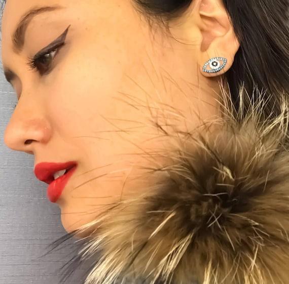Evil Eye Earrings, Evil Eye, Stud Earrings, Evil Eye Jewelry, Turkish Jewelry, Blue Evil Eye, Evil Eye Gifts, Hamsa Earrings, Hamsa Jewelry