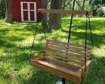 Chair Swing Bird Feeder // Bird Feeder // Mini Swing // Wooden Bird Feeder