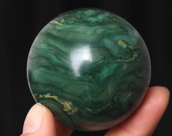Natural African Green Jade Crystal Ball Healing, Crystals and Minerals,#Q370