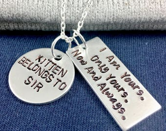 Property of bdsm jewelry, Kitten bdsm kitten, Sir daddy bdsm owned, Master and slave, Daddy dom submissive necklace, Dominatrix, I am yours