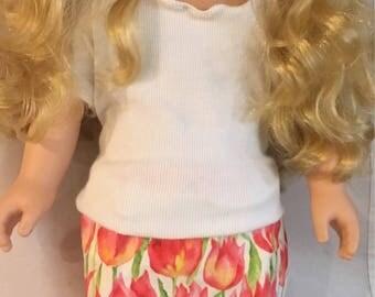 """Mini or Straight Skirt for 18"""" Doll"""