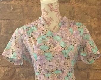 Vintage floral dress size14/16