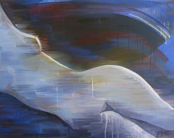 Cold light, naked, nu, Akt, acryl painting
