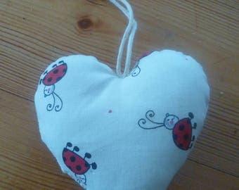 Small fabric hearts