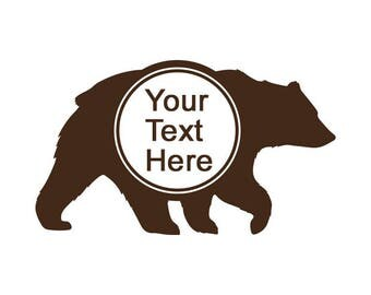 Mama Bear Decal No. 9 with Custom Monogram or Text