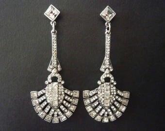 Art Deco Earrings Vintage Earrings Great Gatsby Earrings Bridal Earrings Wedding Earrings Art Nouveau Earrings Downton Abbey Downtown Abbey