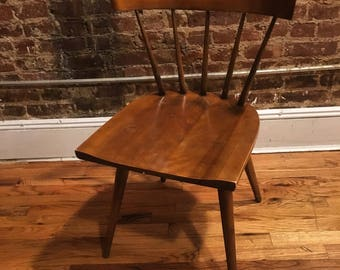 Mid century Paul Mccobb dining maple spindle back chair planner group walnut finish (10) available