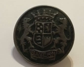 "Vintage Bayern (Germany) Crest Metal 7/8"" Button"
