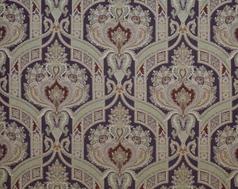 CLARENCE HOUSE STATELY Paisley Medallions Linen Fabric 10 Yards Multi