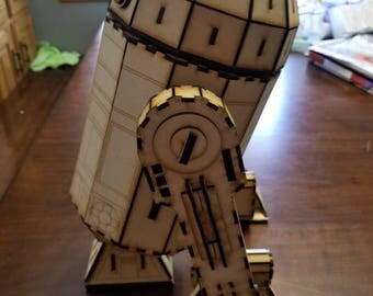 Similar to Star Wars R2D2 wood laser cut model