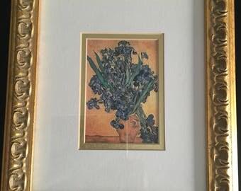 Framed Print Van Gogh Irises, Gold Framed Print