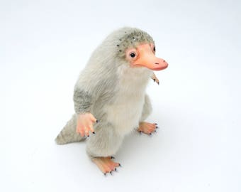 Reserved!!! Niffler Brian, Poseable Art Doll
