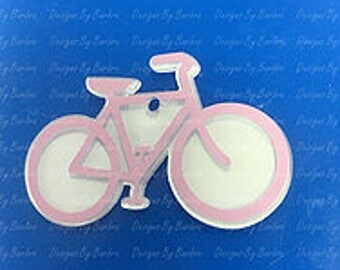 5 clear acrylic BICYCLE KEY CHAIN blanks