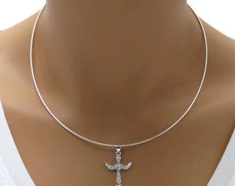 """925 Sterling Silver Round Omega Chain Necklace - 1.25 mm - 16""""/18"""""""