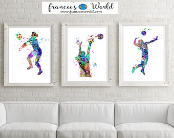 Volleyball Bedroom Decor Best Volleyball Decor  Etsy 2017