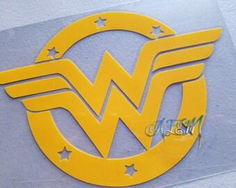 Yellow HTV Iron On Decal Wonder Woman