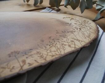 Wildflower wooden platter