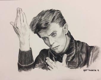 David Bowie Charcoal sketch