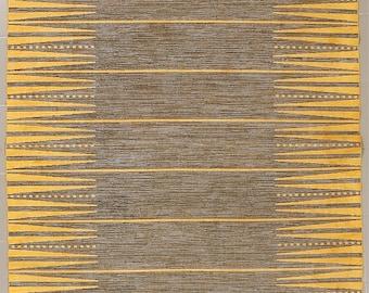 Vintage Swedish flatweave Kelim rollakan in the style of Ingrid Dessau size 230 x 155 cm