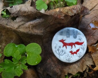 Red Fox brooch