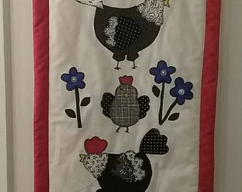 Country Chickens Wallhanging