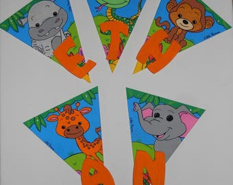 Pennants to customize, handmade