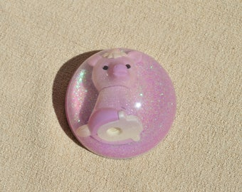 Small Shimmering Purple Unicorn Paperweight, Resin Desk Accessory