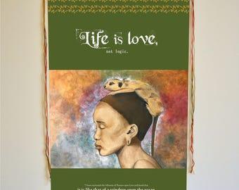 Hafiz quote, watercolor, love gifts, animal print, love Quotes, Hafiz, Inspirational Quote, animal lover, meerkat, wall hanging, wall art