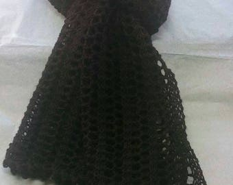 Pure wool lacy scarf