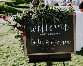 Chalkboard Welcome Sign - Welcome Sign - Wedding Welcome Chalkboard - Wedding Welcome Signage - Chalkboard Wedding Welcome Sign