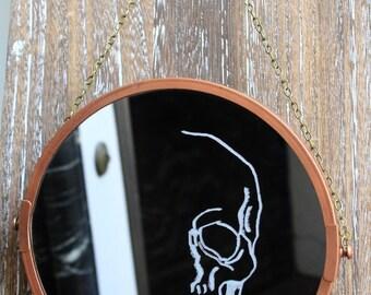 Mirror skull skull engraving