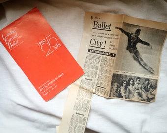 Vintage London Festival Ballet Programme