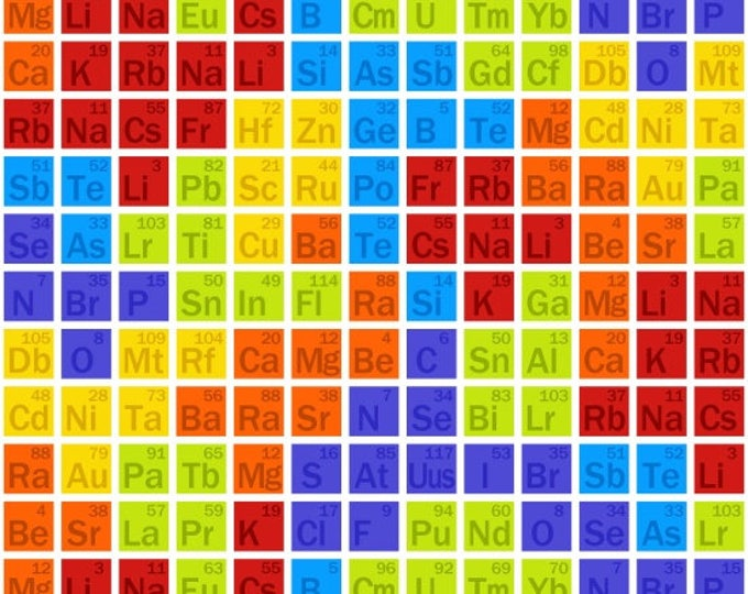 Geeky Chic by Studio E - Periodic Table - Cotton Woven Fabric