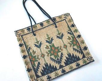 Vintage Cross-Stitch Greece Delicate Purse