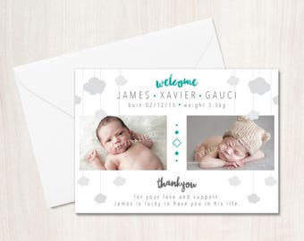 Thank You / Birth Announcement Card