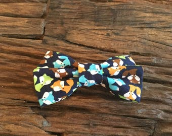 Bow tie for dog collar,bowtie ,gingham black and navy,fier-pet,fierpet,large dog collar,dog accessories
