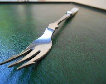 Silver Plated Pickle Fork, Mother of Pearl Pickle Fork, Pickle Fork