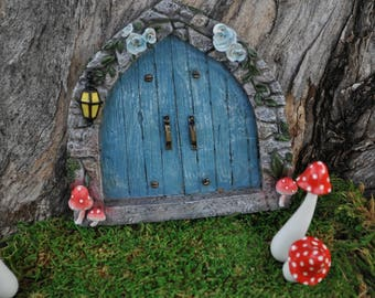 Cobblestone Blue Fairy Door