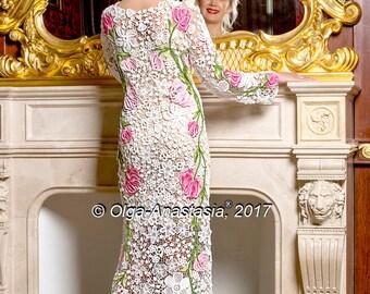 "Irish lace by Olga-Anastasia. Dress ""Triumph"""