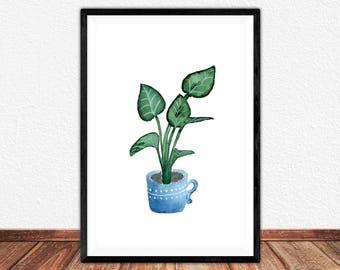 Little Plant Fine Art Print, Illustration, Poster