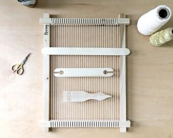 Tissage sur métier à tisser Kit | Métier à tisser du tour | Tissage à la main | Tenture murale | Frame métier à tisser |