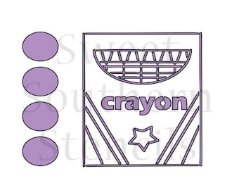 Crayon Box PYO Cookie Stencil