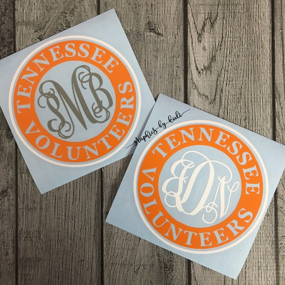 Tennessee Volunteers Decal Monogrammed Vinyl Decal