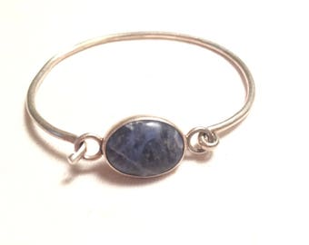 Mexico handcraft t5-45 925 sterling silver bracelet with gem /stone