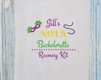 10 Bachelorette Party Favor, Hangover Kit, Survival Kit, Recovery Kit, Emergency Kit , Custom Bachelorette Party Bags -  NOLA Bachelorette